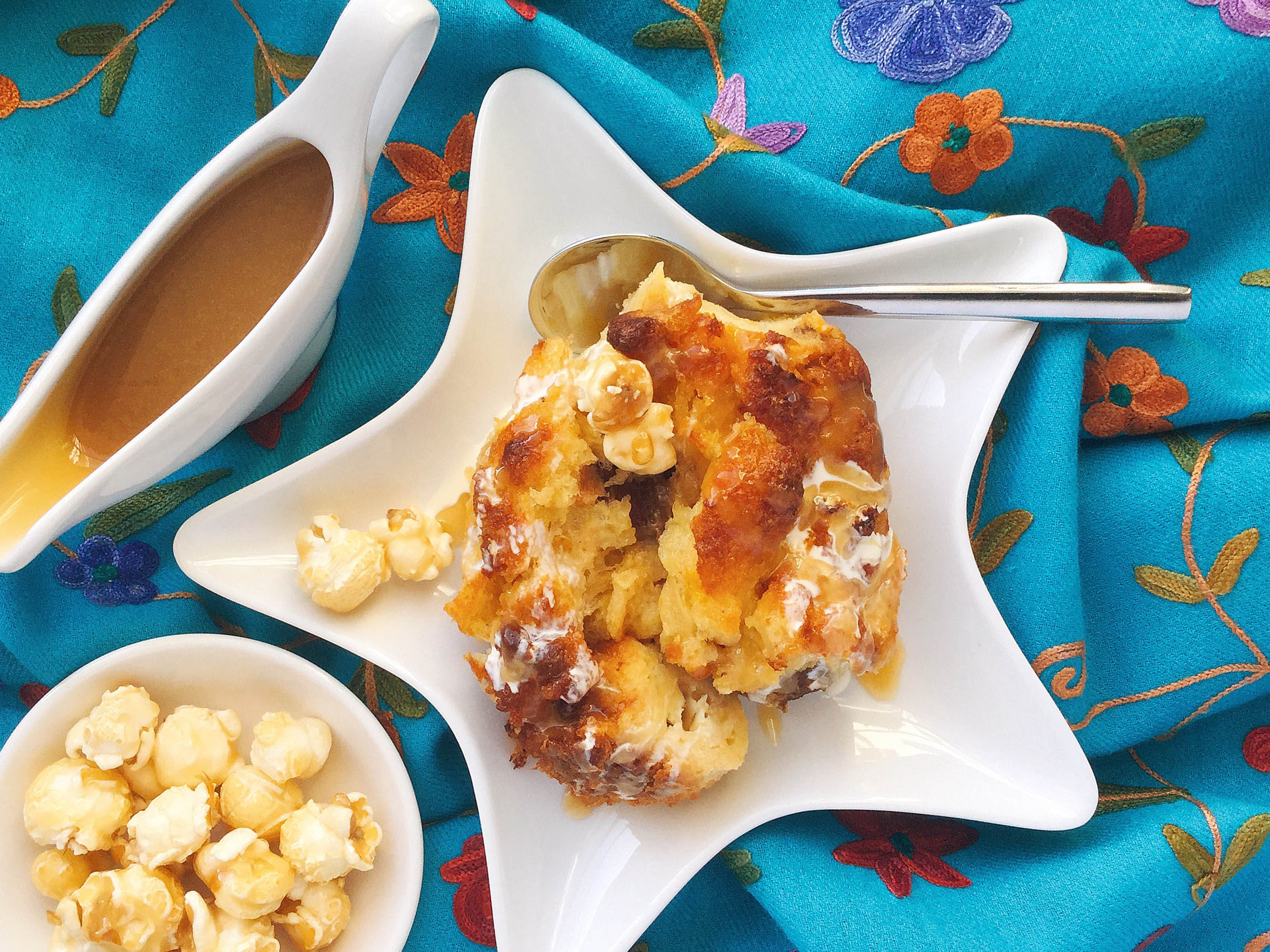 How to make a salted caramel panetonne bread and butter pudding 1
