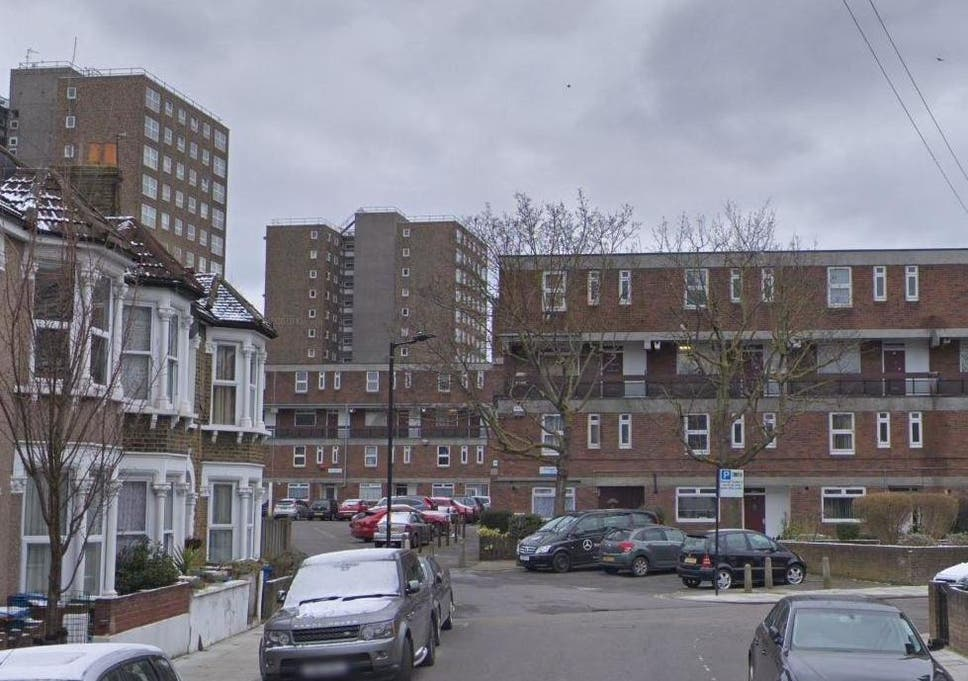 Ethnard Road in Peckham where the victim was stabbed