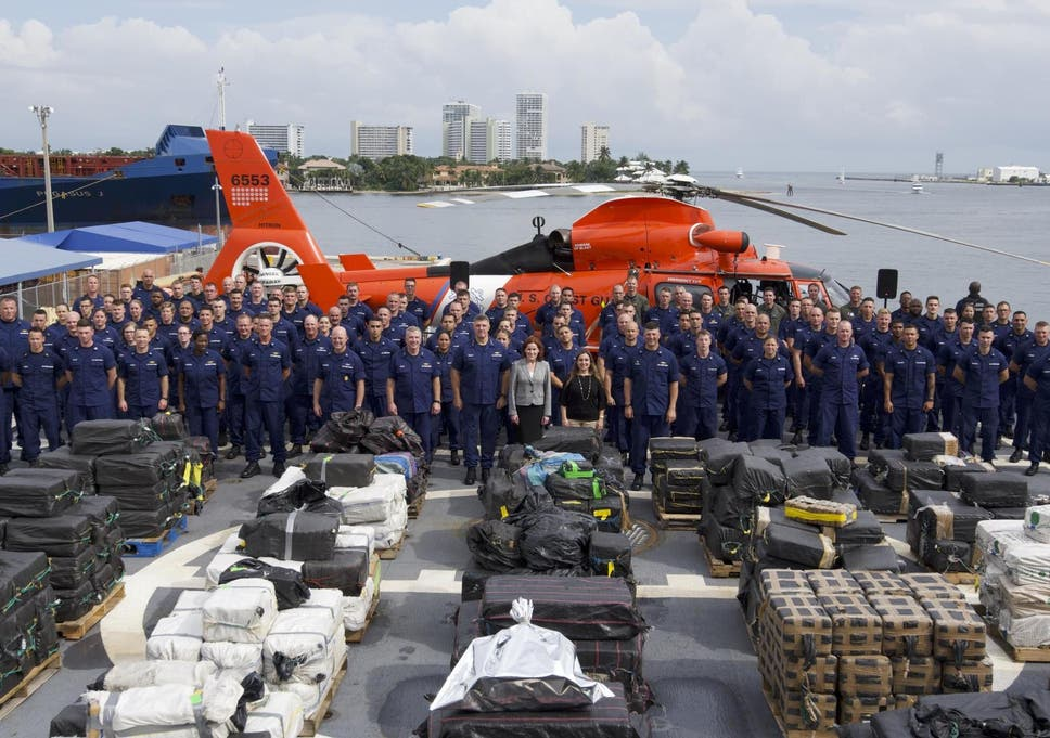 16 7 tonnes of cocaine seized by US Coast Guard in huge