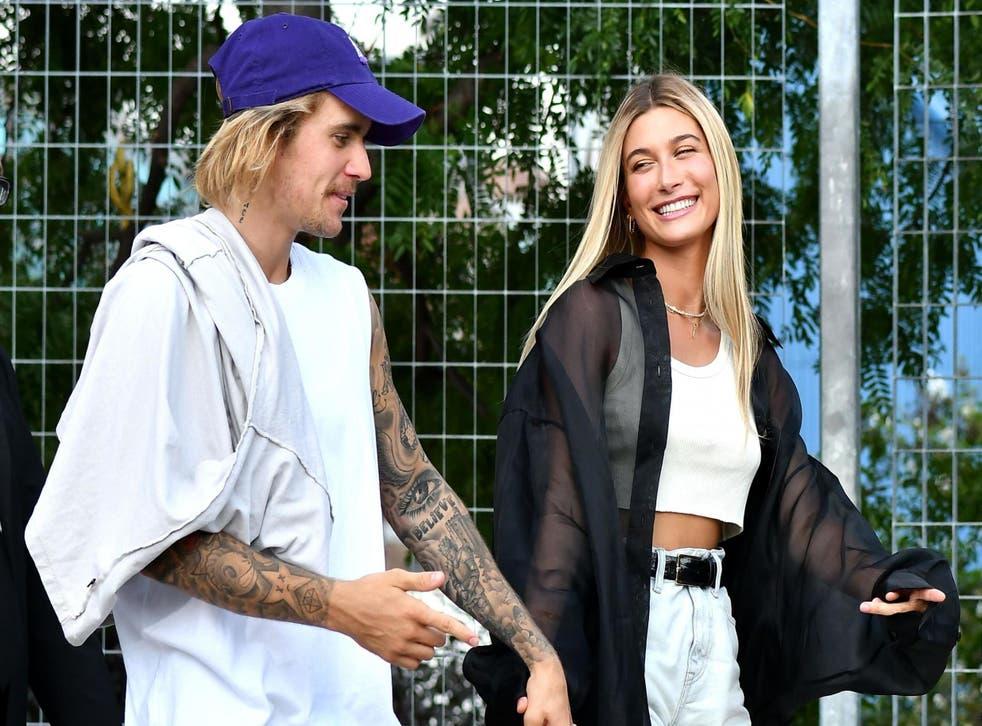 Justin Bieber and Hailey Baldwin at New York Fashion Week, September 2018
