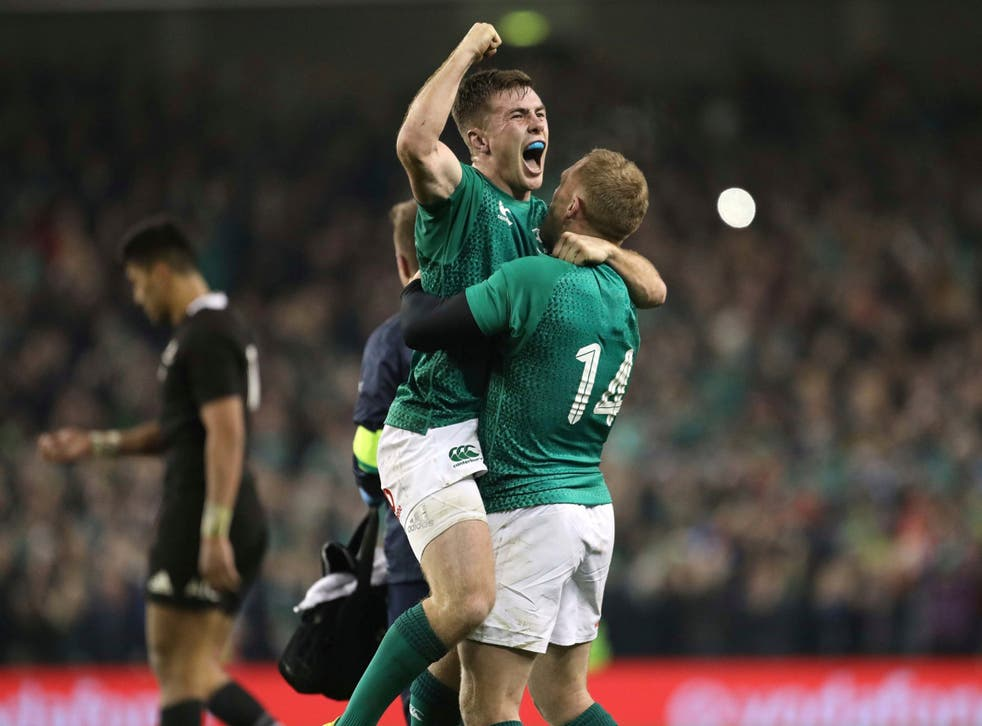Jacob Stockdale's 12th try in 14 matches made history at the Aviva Stadium