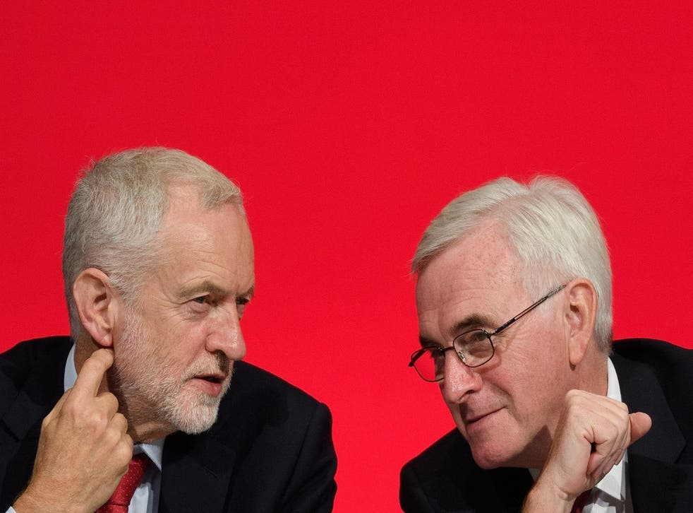 Shadow chancellor John McDonnell (right) has suggested Labour could include a pledge to reduce the working week in its next manifesto
