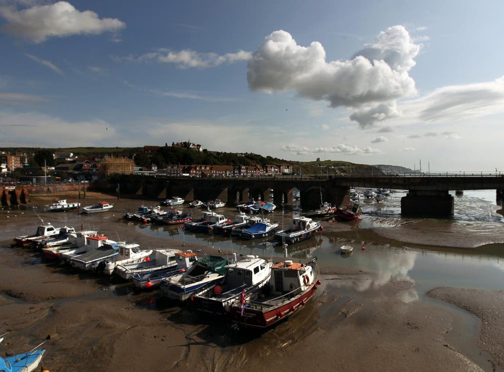 The boat landed close to Folkestone Harbour