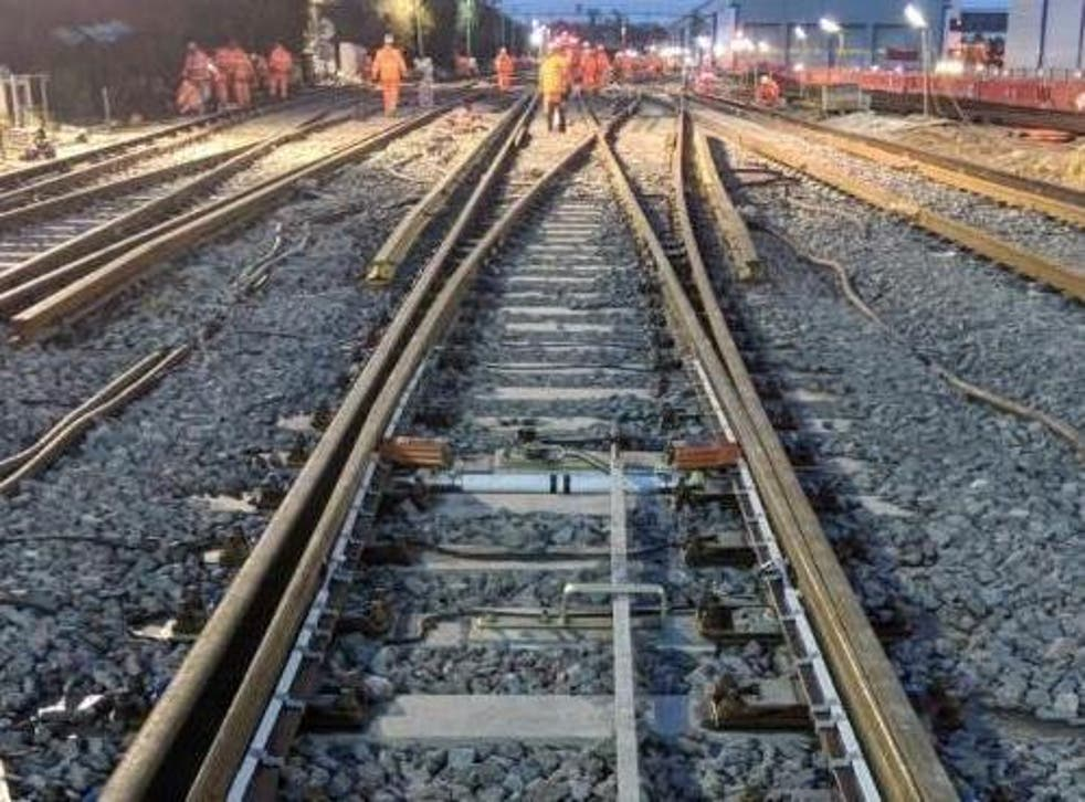 Lines closed: the overrun is believed to be due to a damaged rail