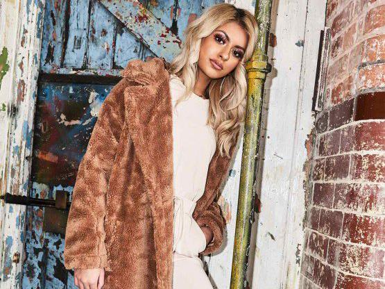 5e48336344fa7 Missy Empire Kaydence Brown Teddy Faux Fur Coat: £86, Missy Empire