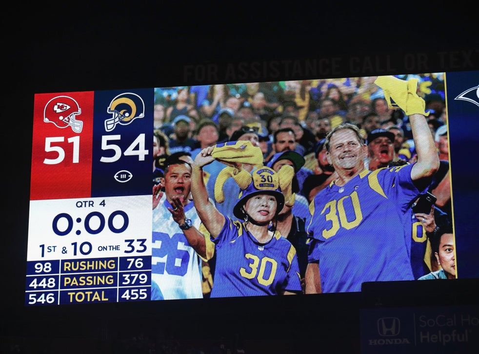 Nfl Scores Los Angeles Rams And Kansas City Chiefs Combine For Record Breaking Mnf Shootout The Independent The Independent