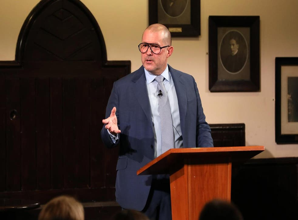 Apple designer Jony Ive delivered the Stephen Hawking Fellowship lecture at the Cambridge Union on 19 November, 2018