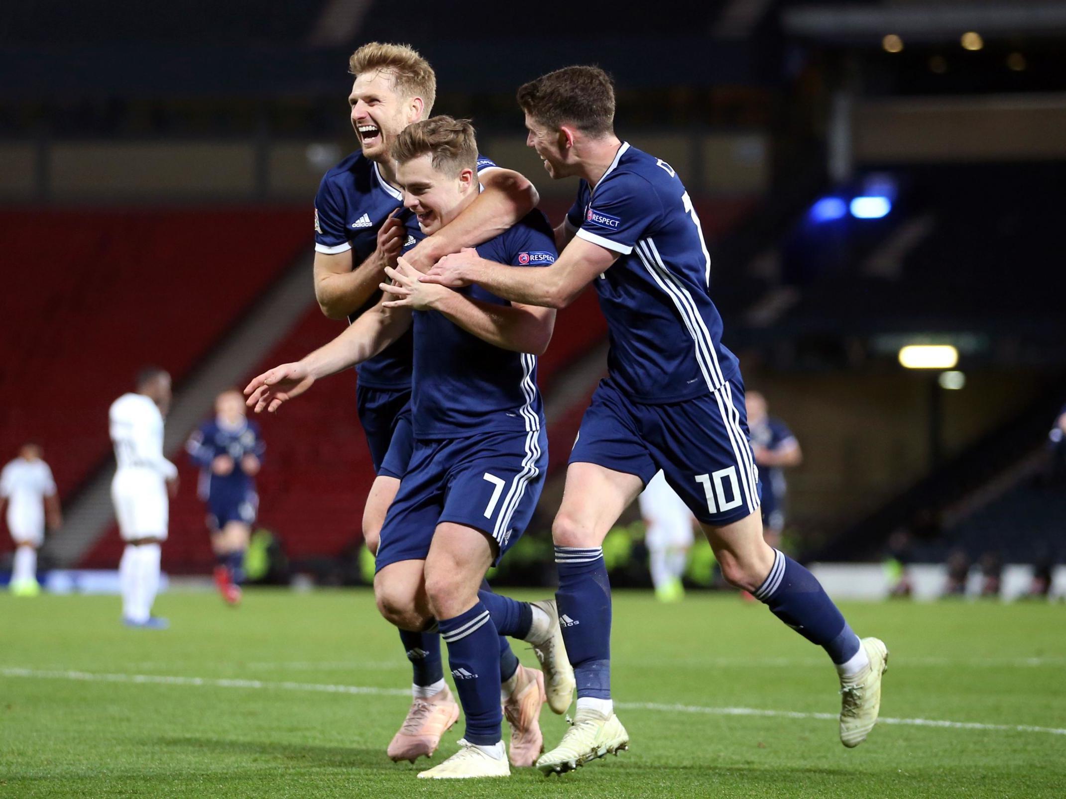 Scotland secure Nations League promotion after James Forrest hat-trick inspires comeback against Israel