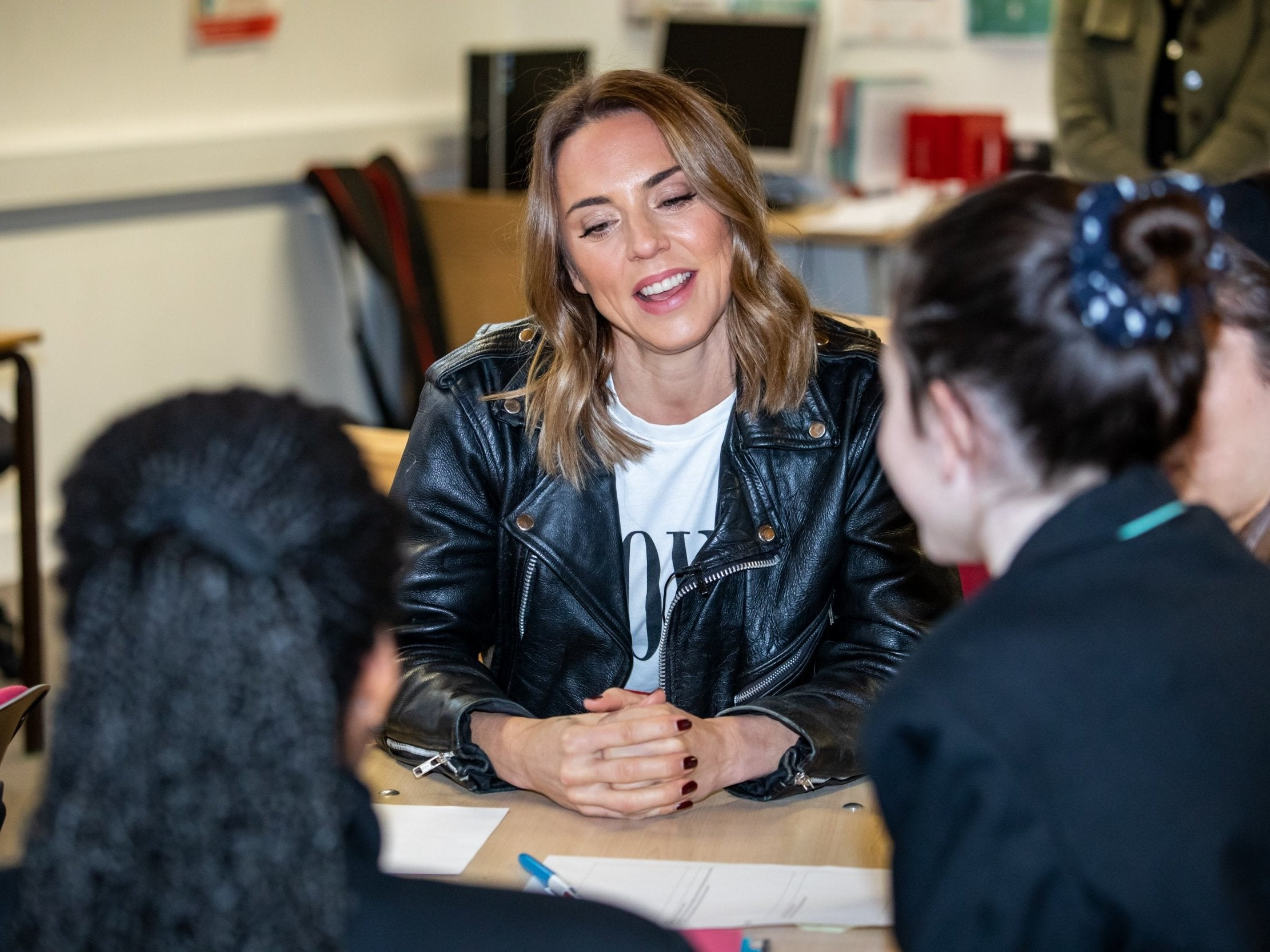 Learn to Live: Spice Girls star Melanie C joins students to talk