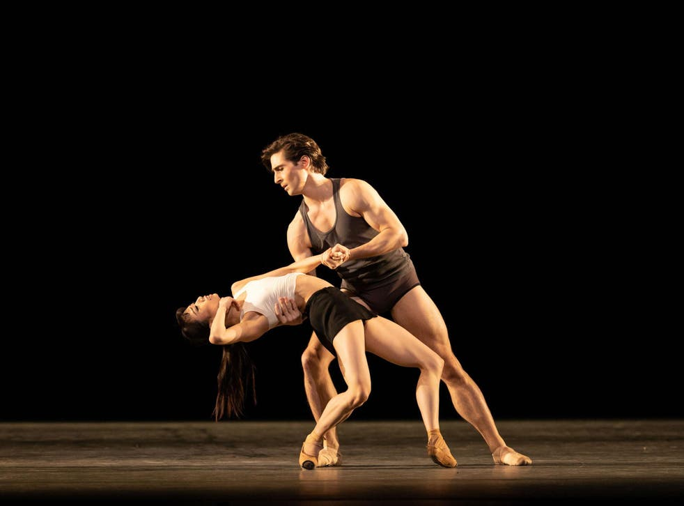 Akane Takada and Tristan Dyer in Wayne McGregor's polished but emotionally underpowered 'Infra'