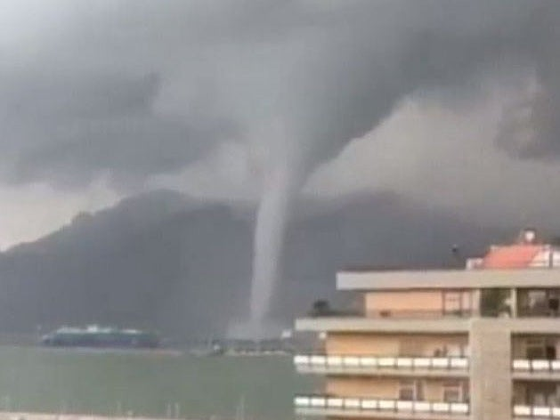 huge waterspout forms off coast of southern italy the independent