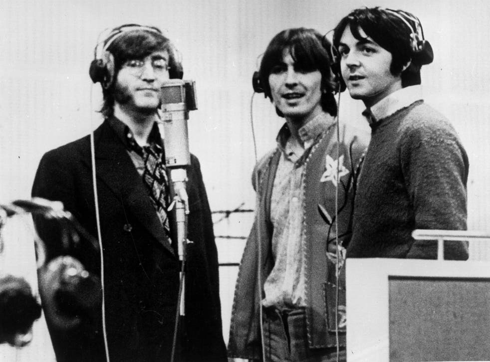 Lennon, Harrison and McCartney recording in 1968, the year of the band's eponymous double album, one that both pleased and perplexed the world