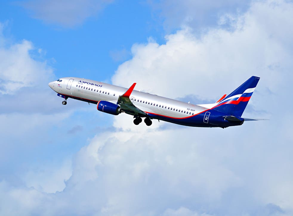 Aeroflot Airlines Boeing 737 taking off