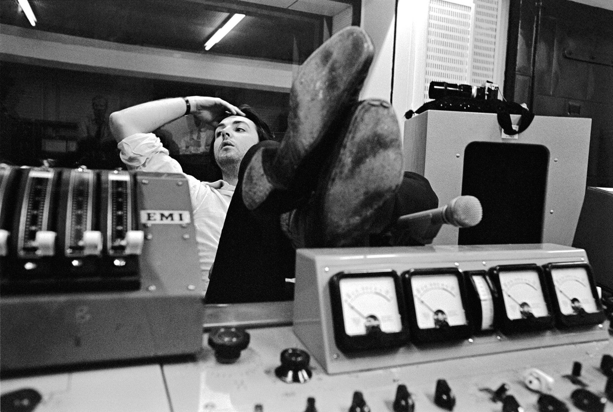 Paul McCartney at Abbey Road Studios