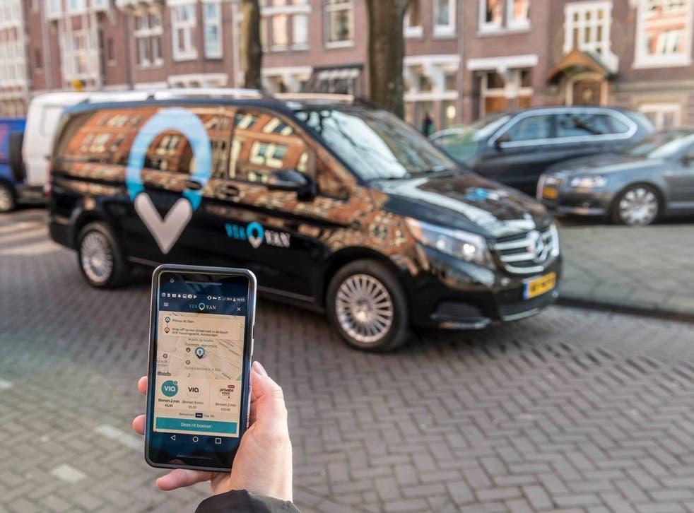 ViaVan operates in Amsterdam, Berlin, London and Milton Keynes