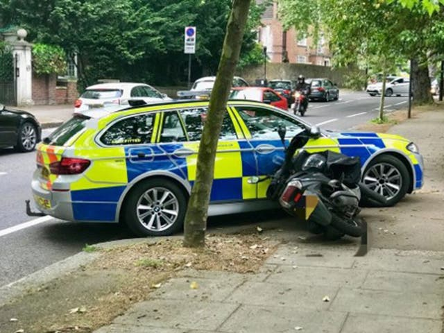 Police drivers in London have been trained to engage with moped criminals