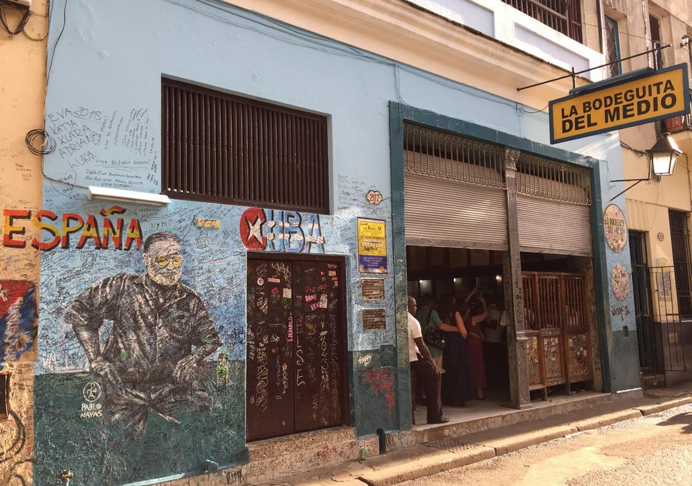La Bodeguita, where Hemingway stopped for mojitos