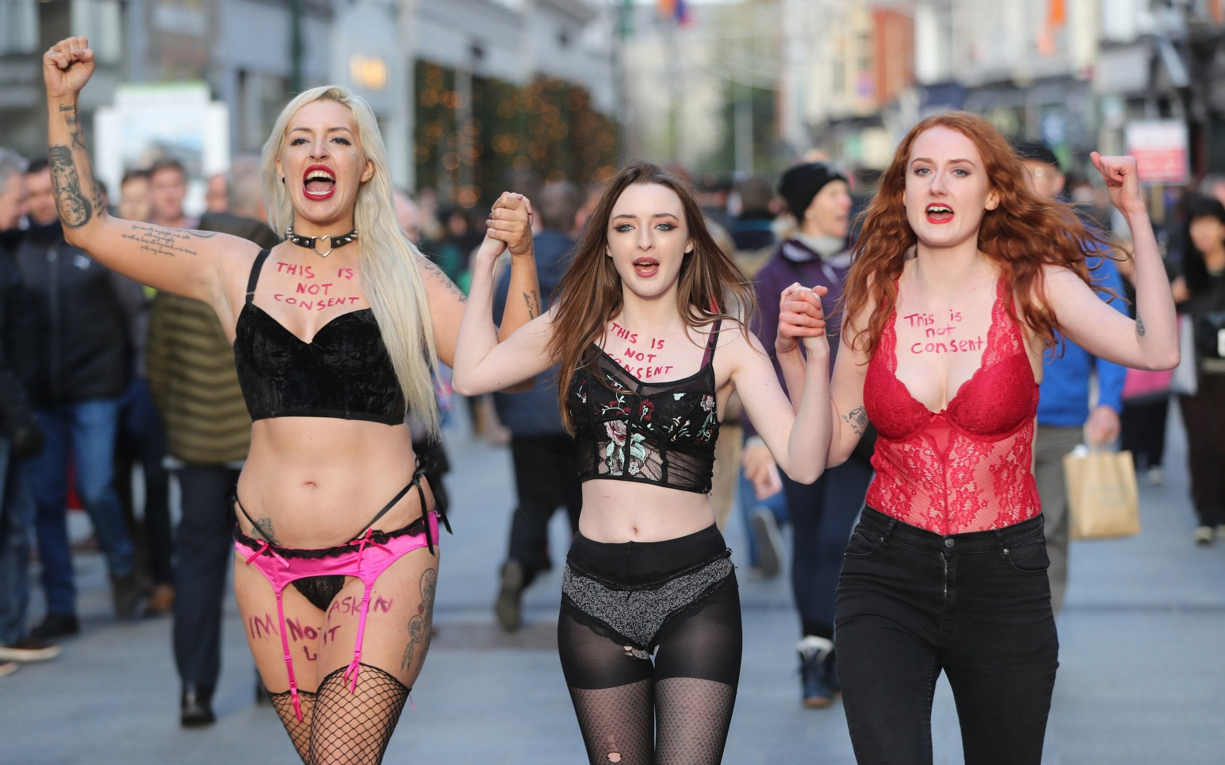 Women march in Dublin wearing underwear to demand rape trial reform | The  Independent