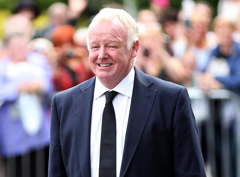 Les Dennis denies spray painting his own name in large letters across Norwich