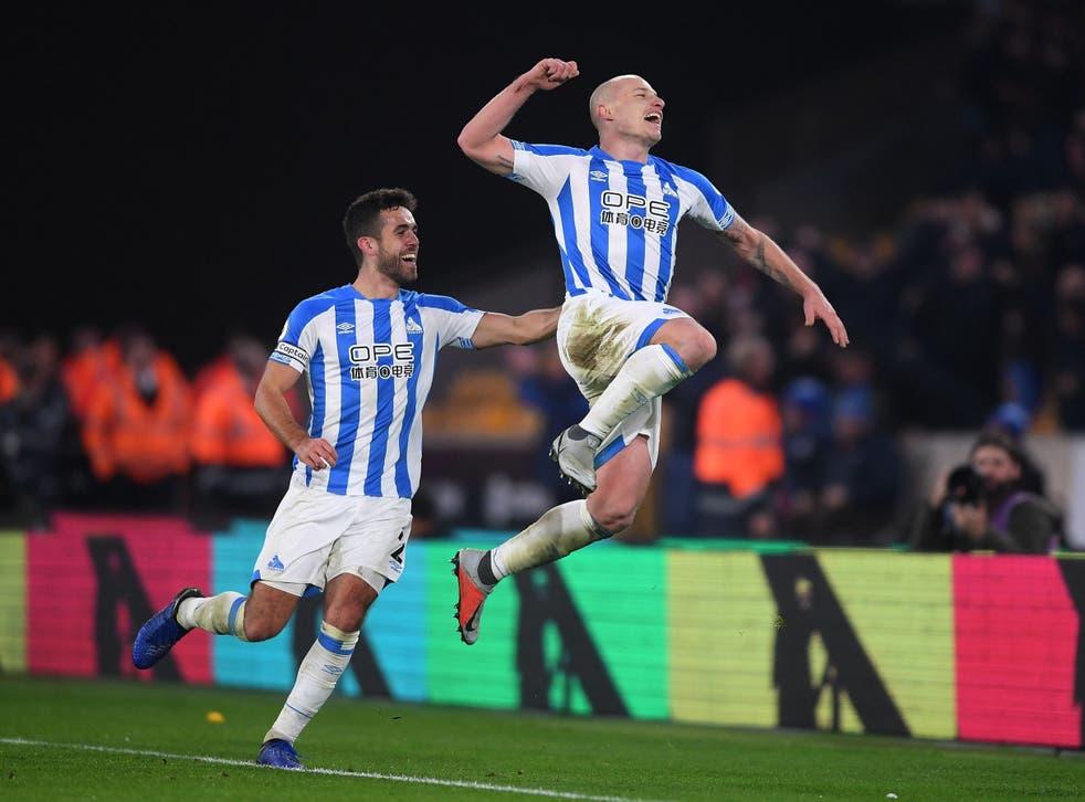 Aaron Mooy struck twice as Huddersfield beat Wolves