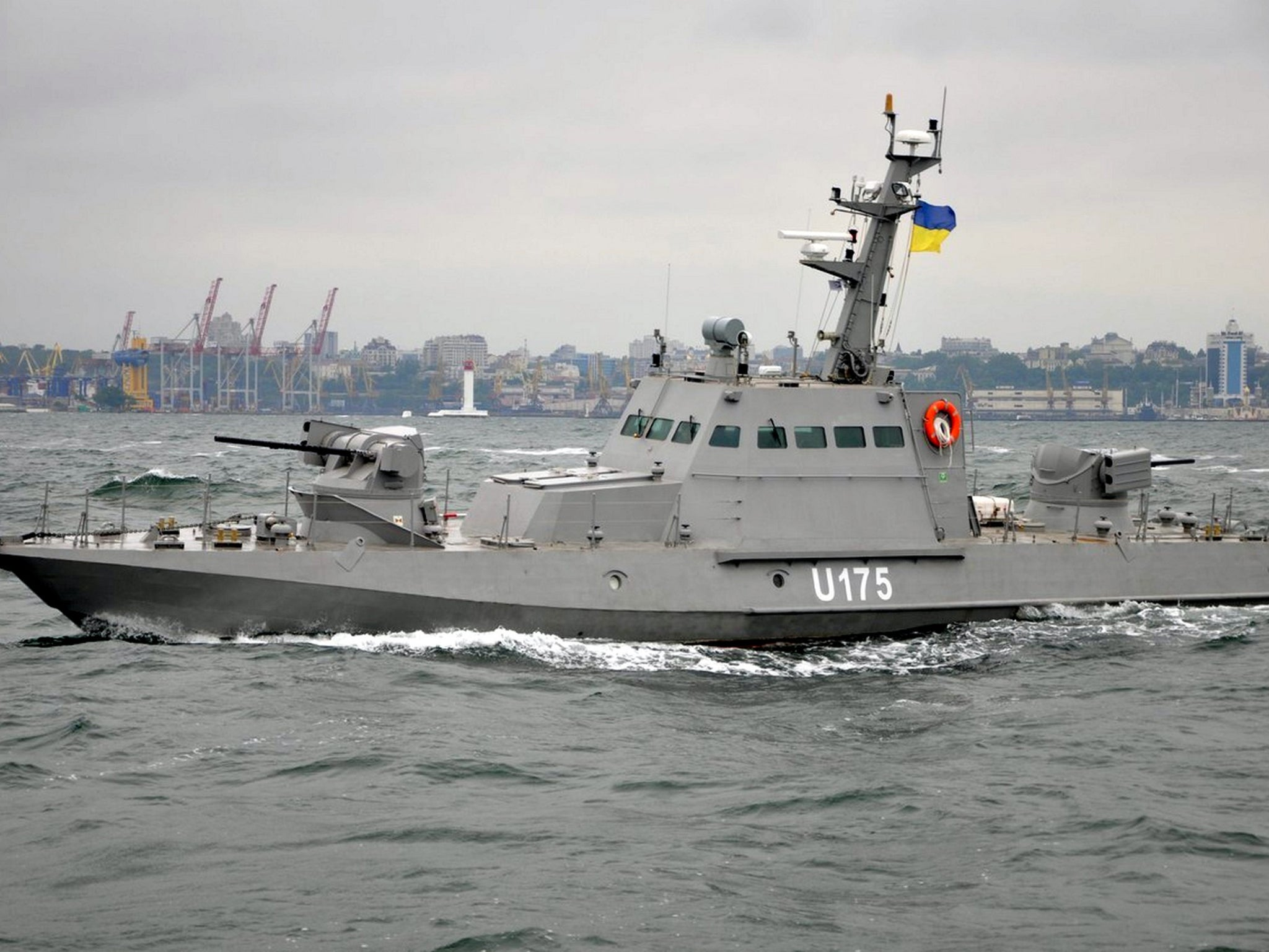 Crimea: Three Ukraine navy boats captured by Russian forces