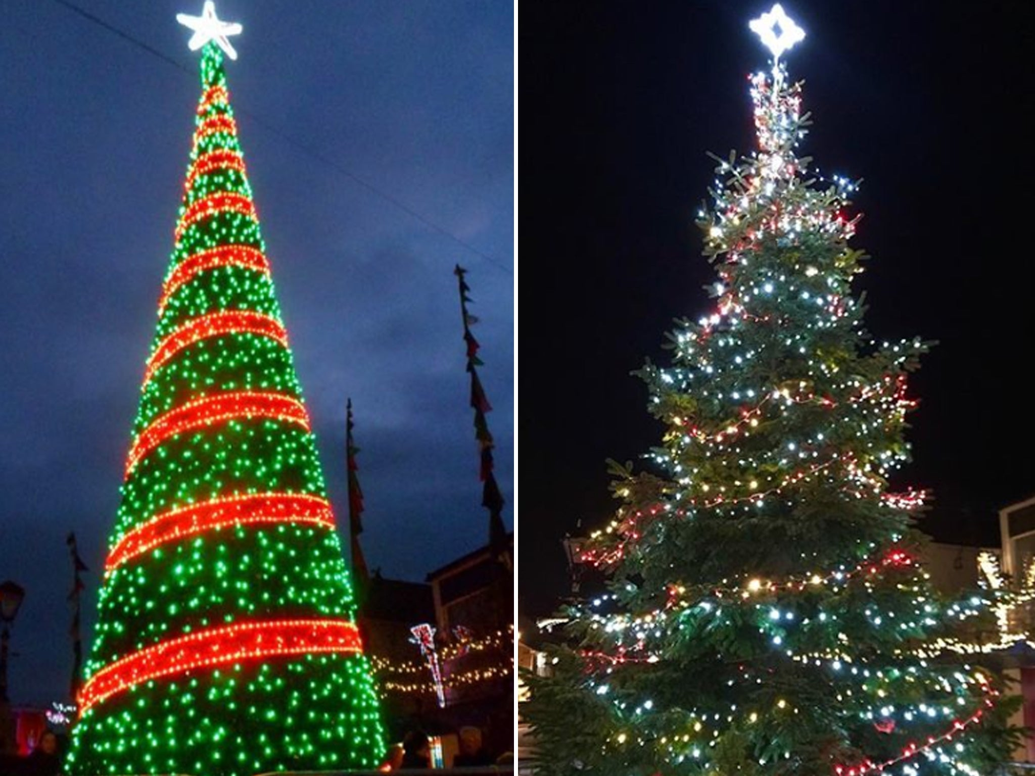 'Britain's Worst Christmas Tree' Replaced With Traditional
