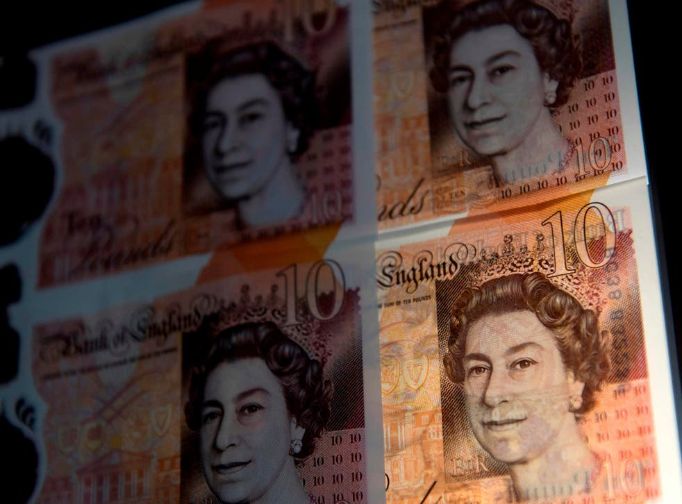The pound is on the rise