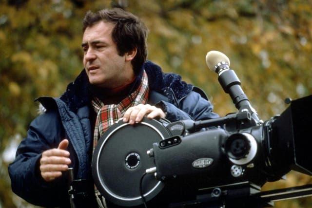 Bertolucci on the set of 'La luna' in 1979