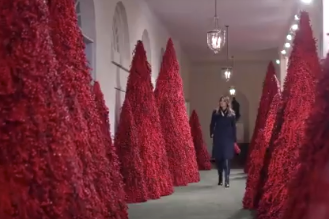 Melania Trump unveiled the White House Christmas decorations - and they're already being mocked