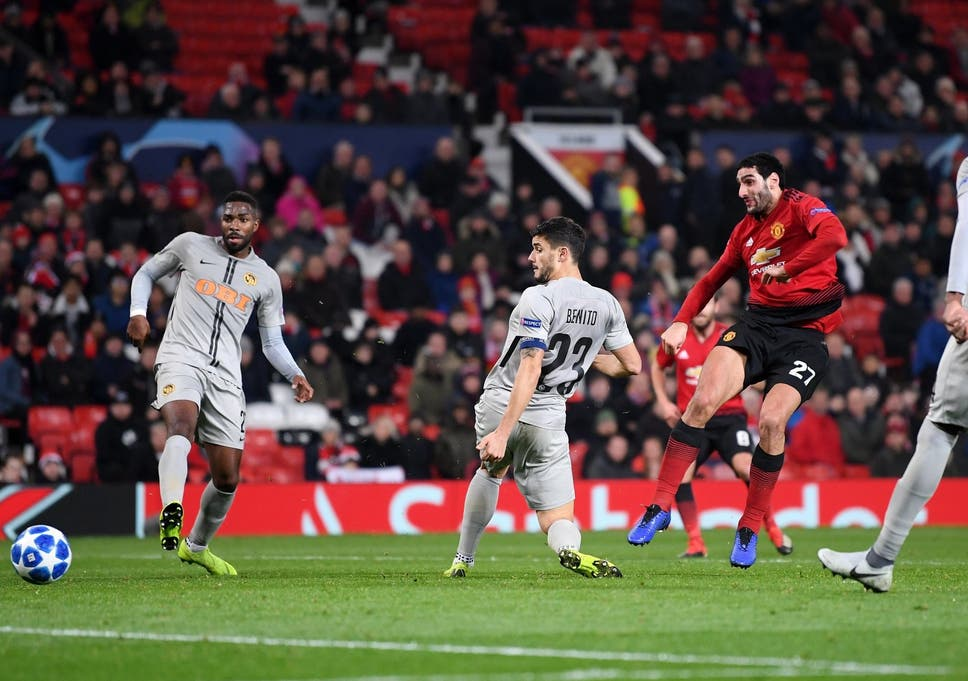 Image result for fellaini against young boys