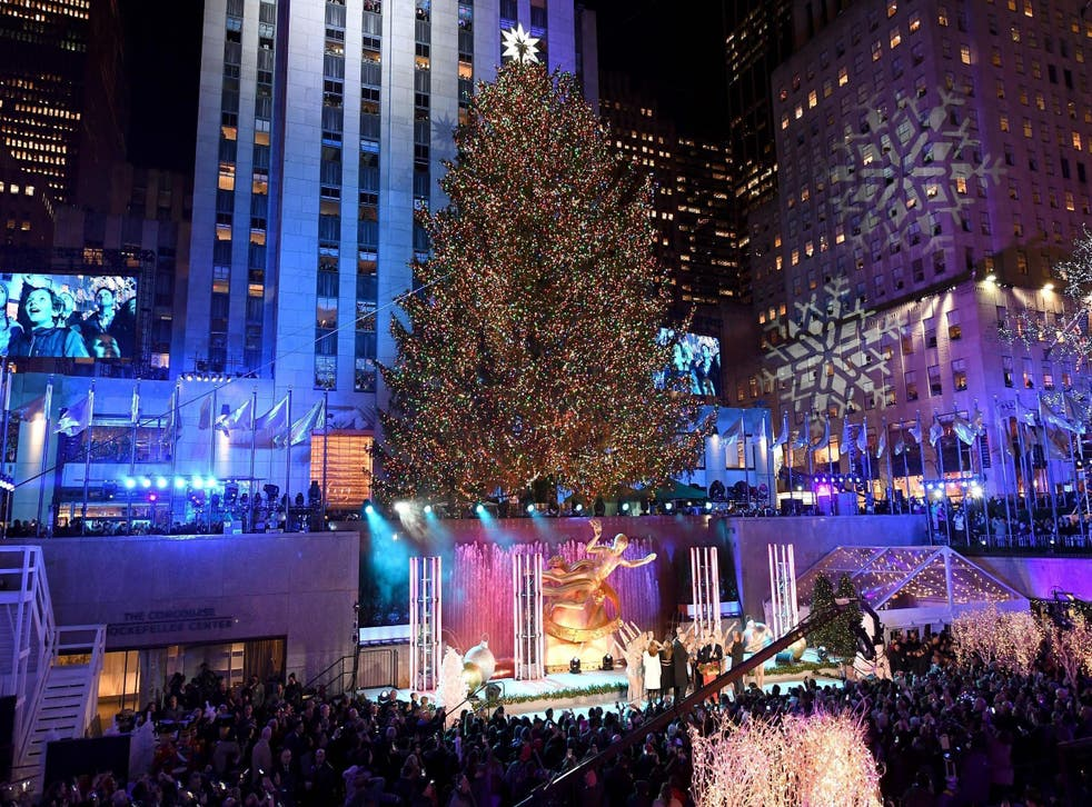 The Rockefeller Tree will be lit today (Getty)