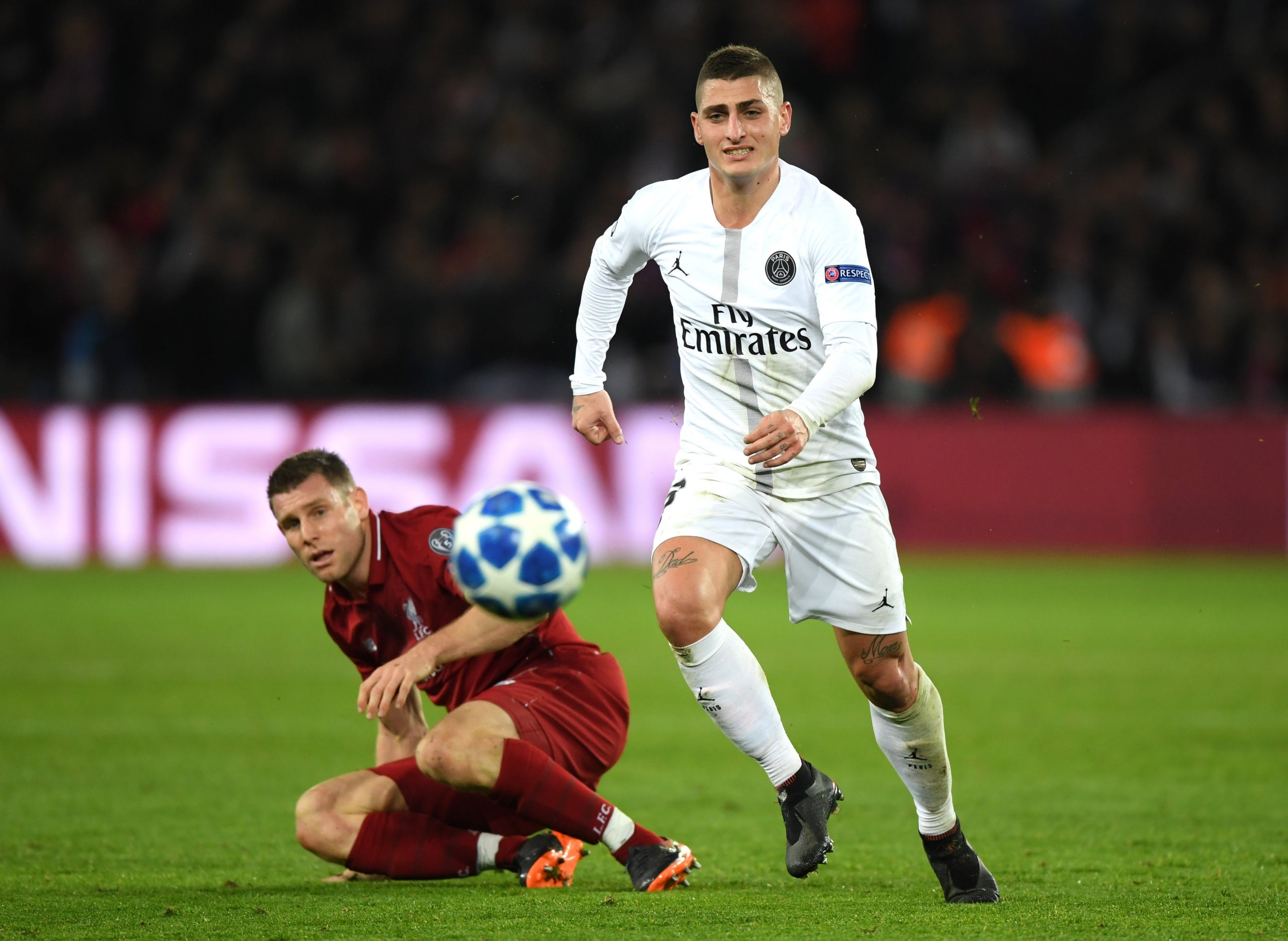 manchester united vs psg marco verratti a doubt for champions league clash after picking up. Black Bedroom Furniture Sets. Home Design Ideas