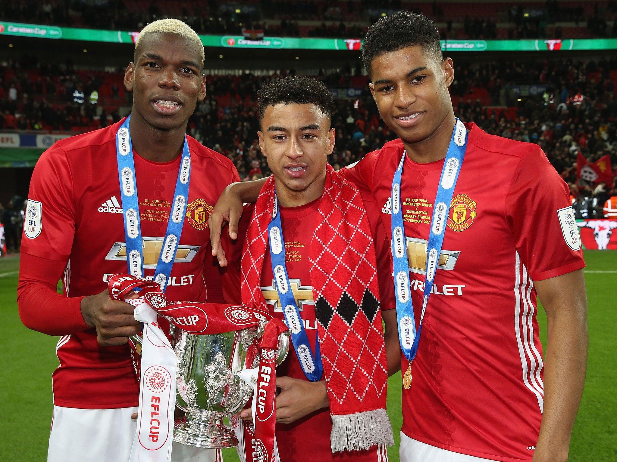 Paul Pogba, Jesse Lingard And Marcus Rashford A 'shining