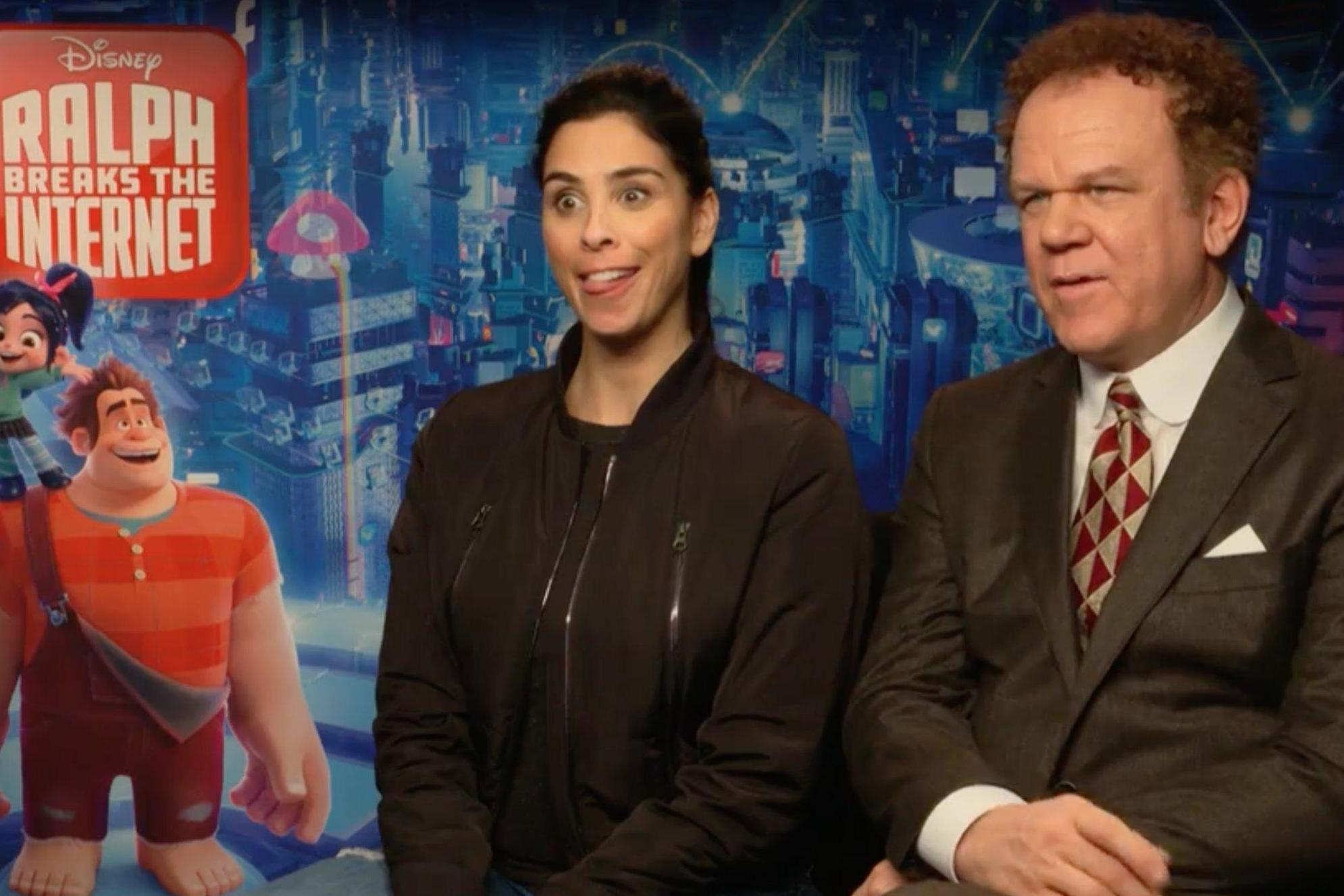 Ralph Breaks The Internet John C Reilly And Sarah Silverman Pitch Video Games About Each Other The Independent The Independent