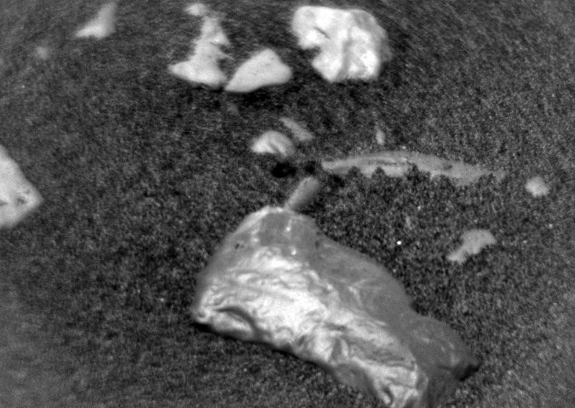 Nasa Curiosity rover spots strange shiny object on Mars surface