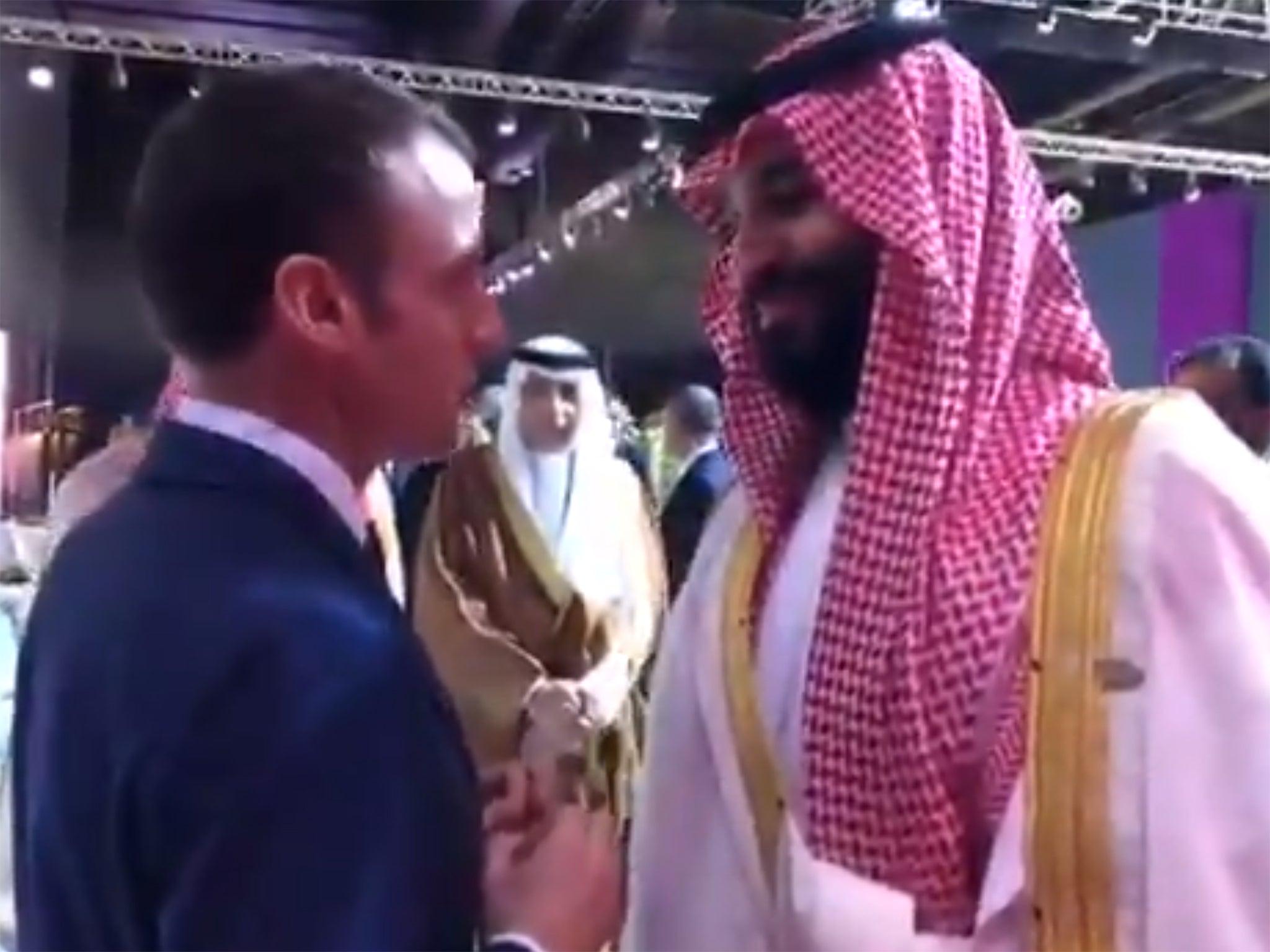 Macron heard warning bin Salma...