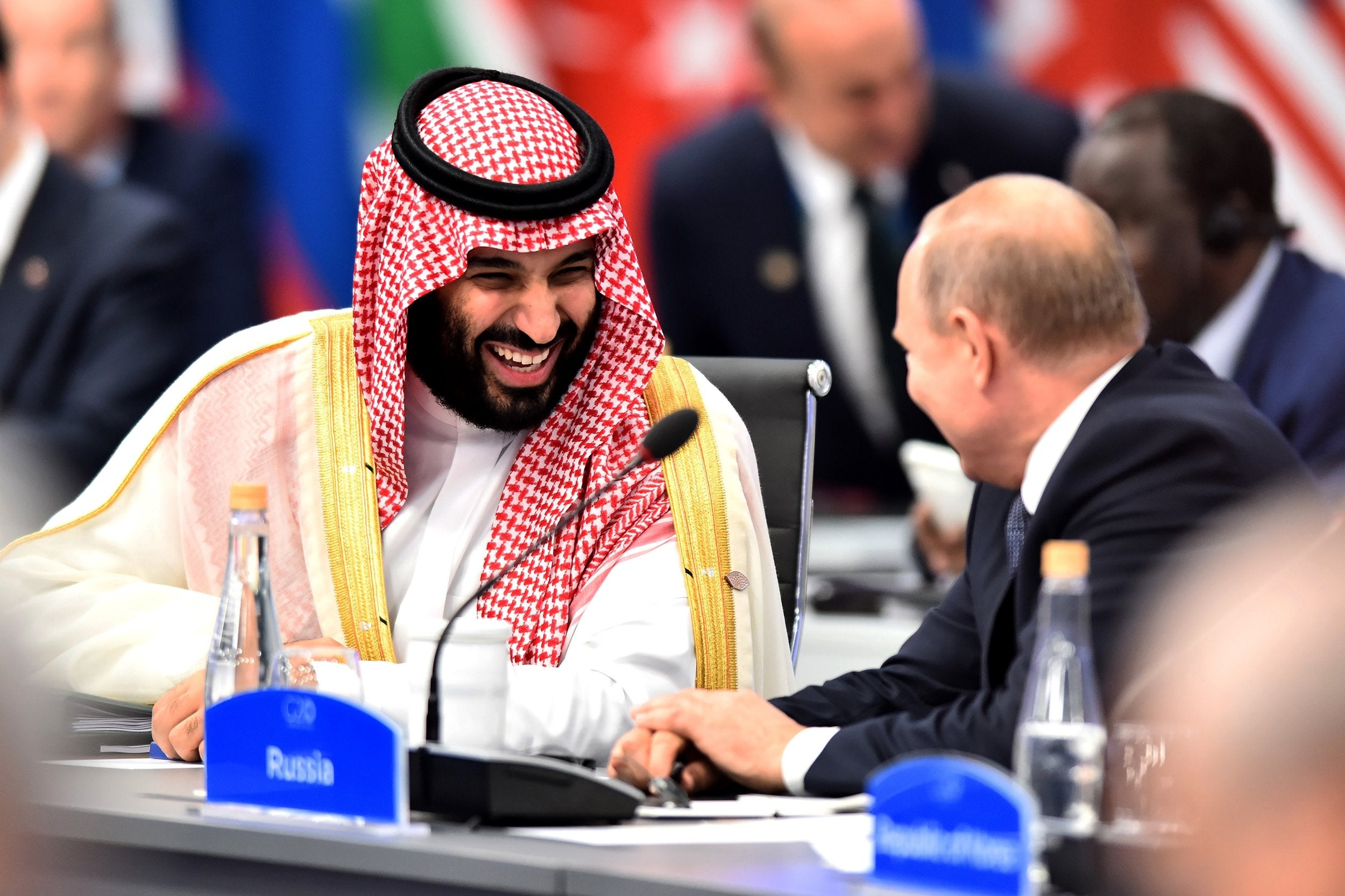Mohammed bin Salman: Saudi crown prince met with laughter and confrontations at G20 summit over Khashoggi murder