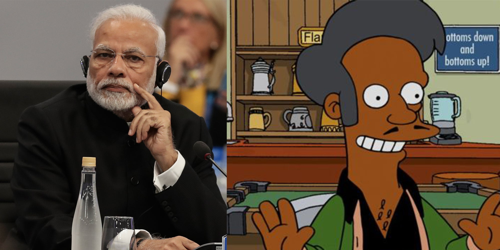 A TV channel is facing criticism after comparing India's PM to Apu from The Simpsons