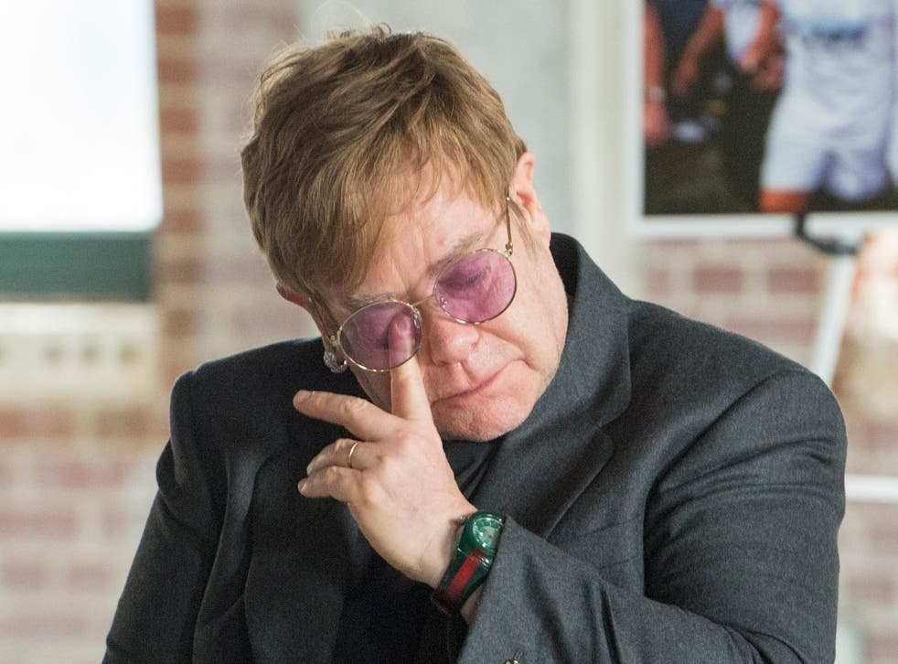 Sir Elton John moved to tears at the Grady Ponce De Leon Centre in Atlanta last week