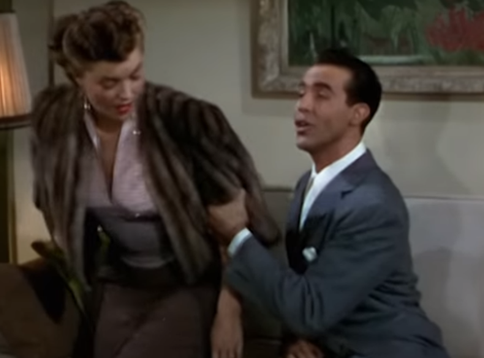 A scene from the 1949 film Neptune's Daughter, in which the stars perform a version of Baby It's Cold Outside