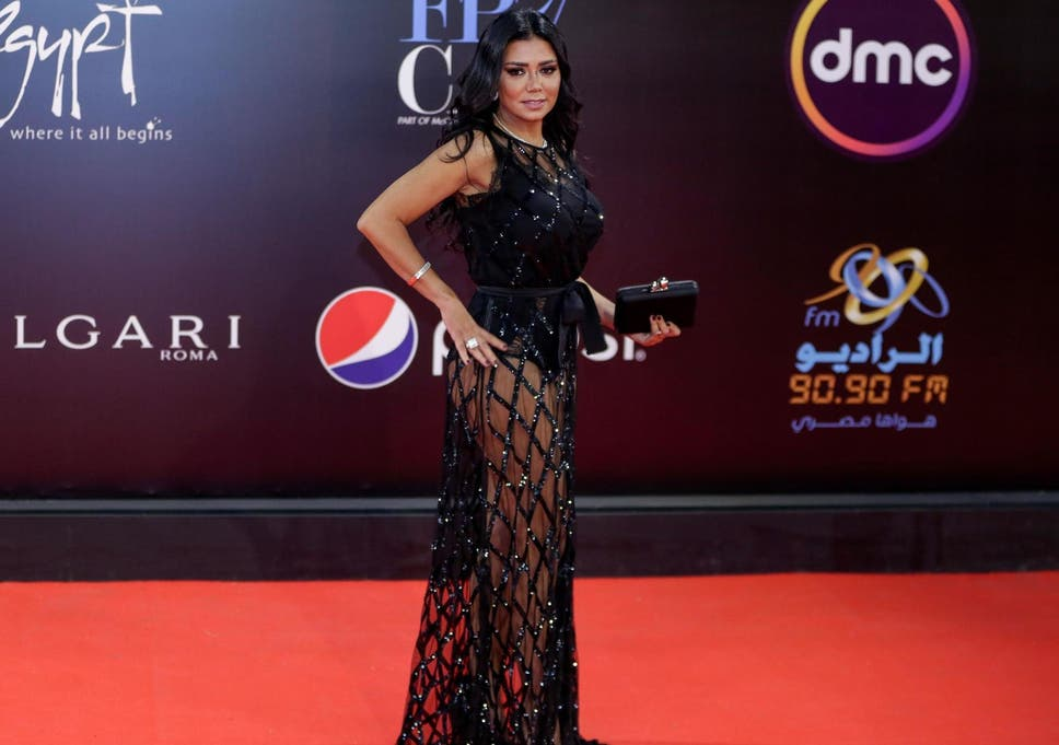 Rania Youssef attending a film festival in Cairo