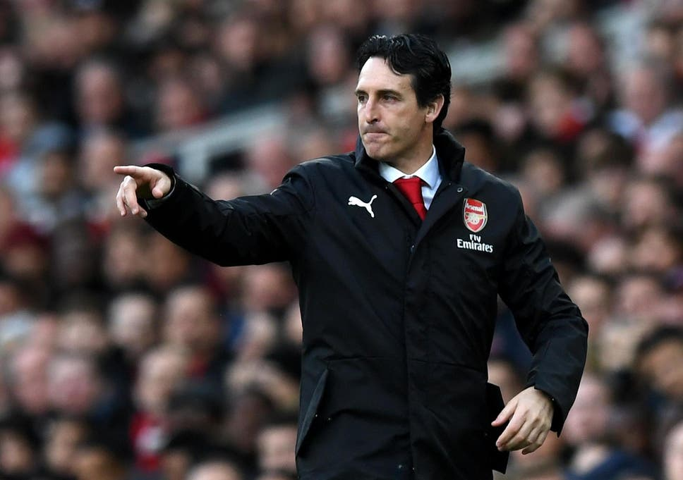 dbbd3f9c8e4 The Arsenal boss issues instructions from the sideline at the Emirates
