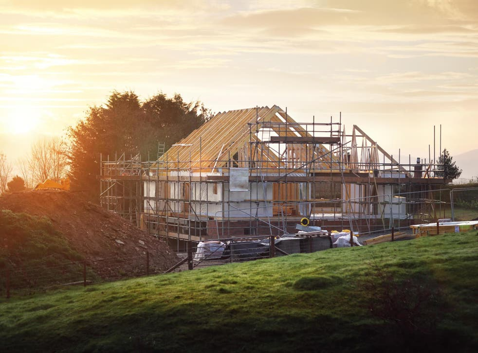 Home under construction in the UK. Developers could be forced to create 10 per cent more 'biodiversity units' for every project they undertake in England under government proposals