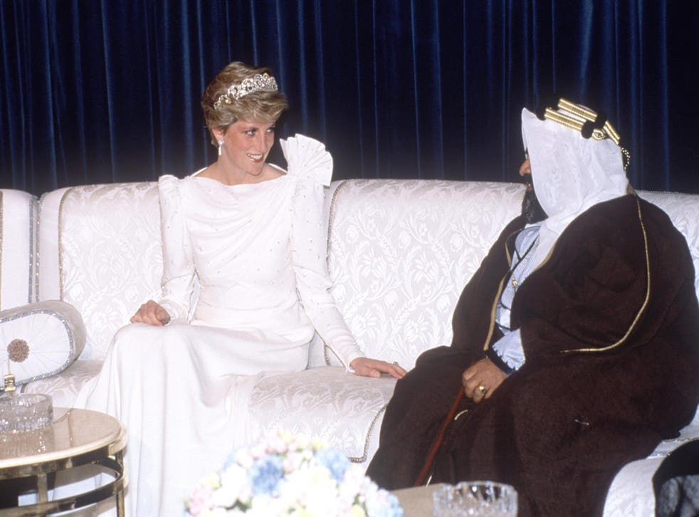 Princess Diana on a royal tour of the Gulf States in November 1986