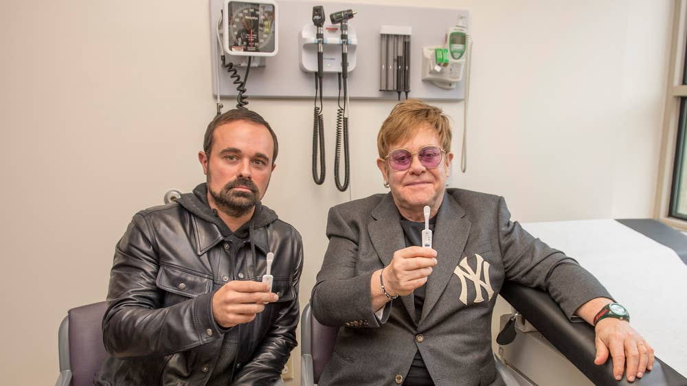 Sir Elton John and Evgeny Lebedev