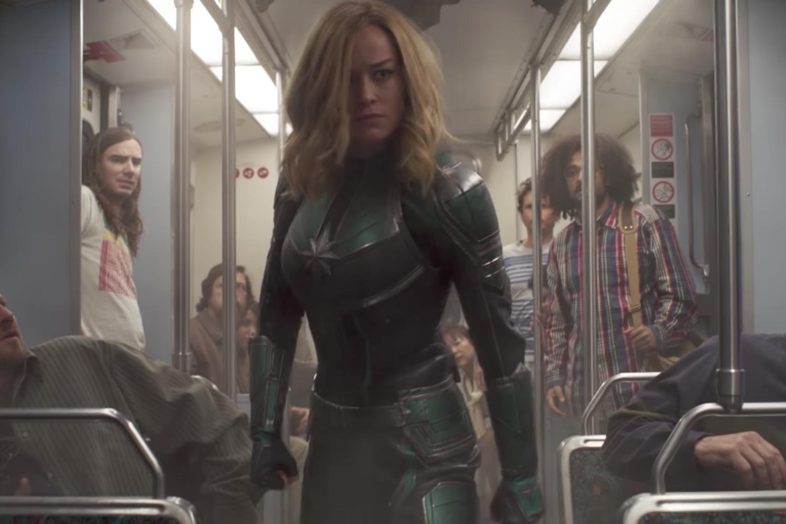 Captain Marvel Trailer Shows Brie Larson S Superhero Beating Up An