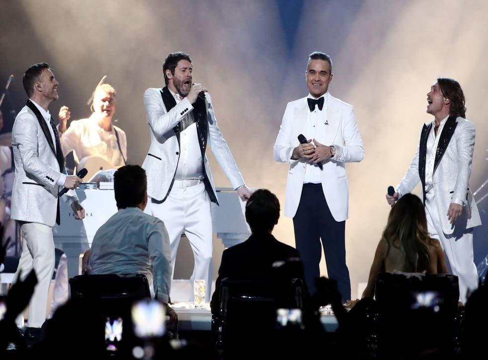 Gary Barlow, Howard Donald, Robbie Williams and Mark Owen