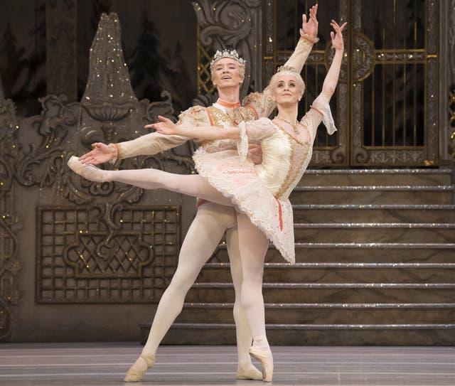 Vadim Mutagirov as The Prince and Marianela Nunez as the Sugar Plum Fairy in the Royal Ballet's production of The Nutcracker