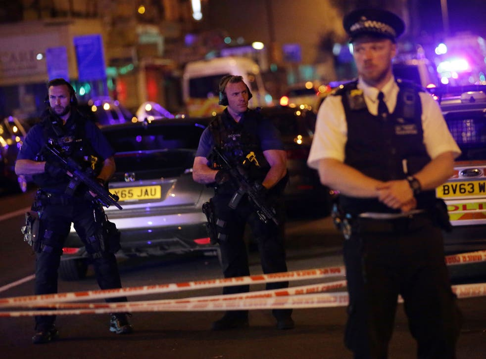 Police guard a street in the Finsbury Park area of north London after a man drove a van into worshippers outside a mosque, killing one person and injuring at least nine, on 19 June, 2017