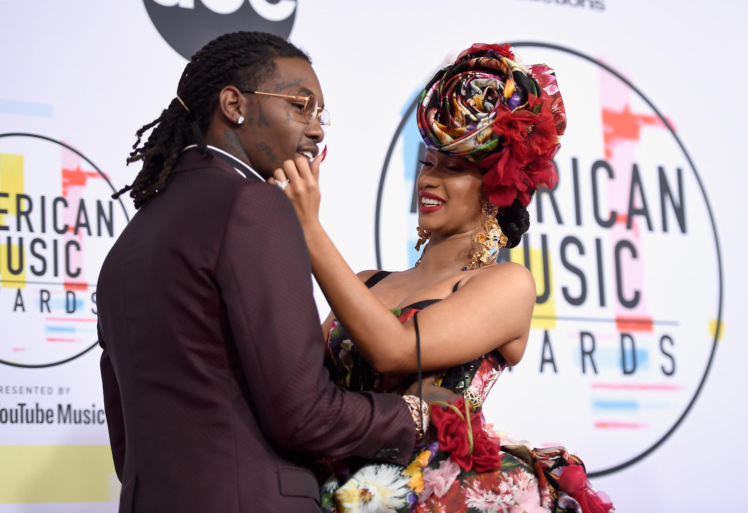 Cardi B defends Offset after he crashes Rolling Loud festival set with 'Take Me Back' sign